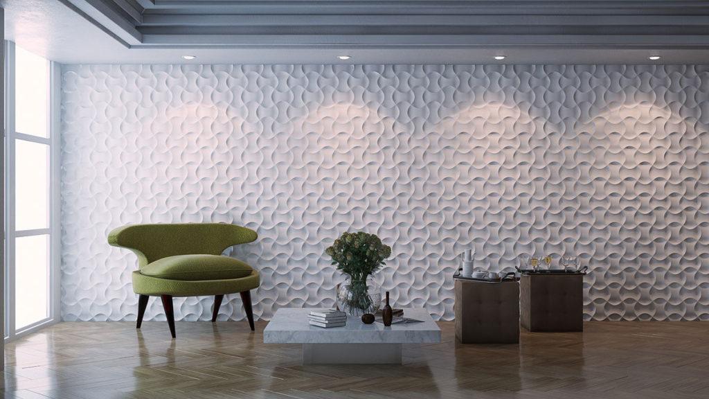 3D-стеновые панели гипсовые