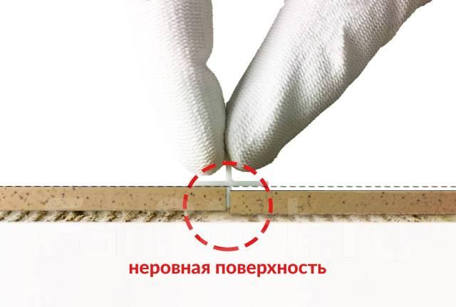 устранение неровности двух плиток