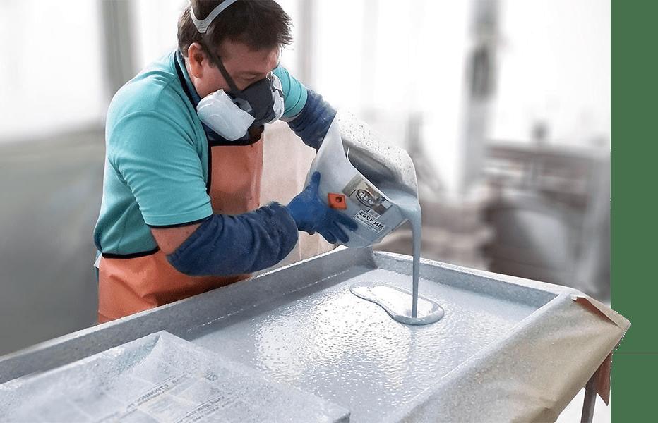 заливаем жидкий камень методом литья