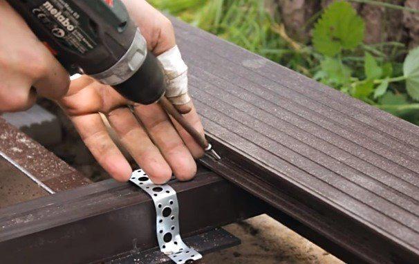 бесшовное крепление древесно-полимерного композита