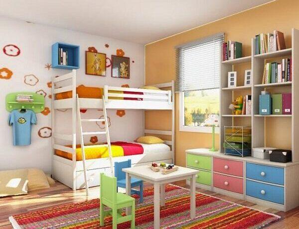 детская с двуспальной кроватью