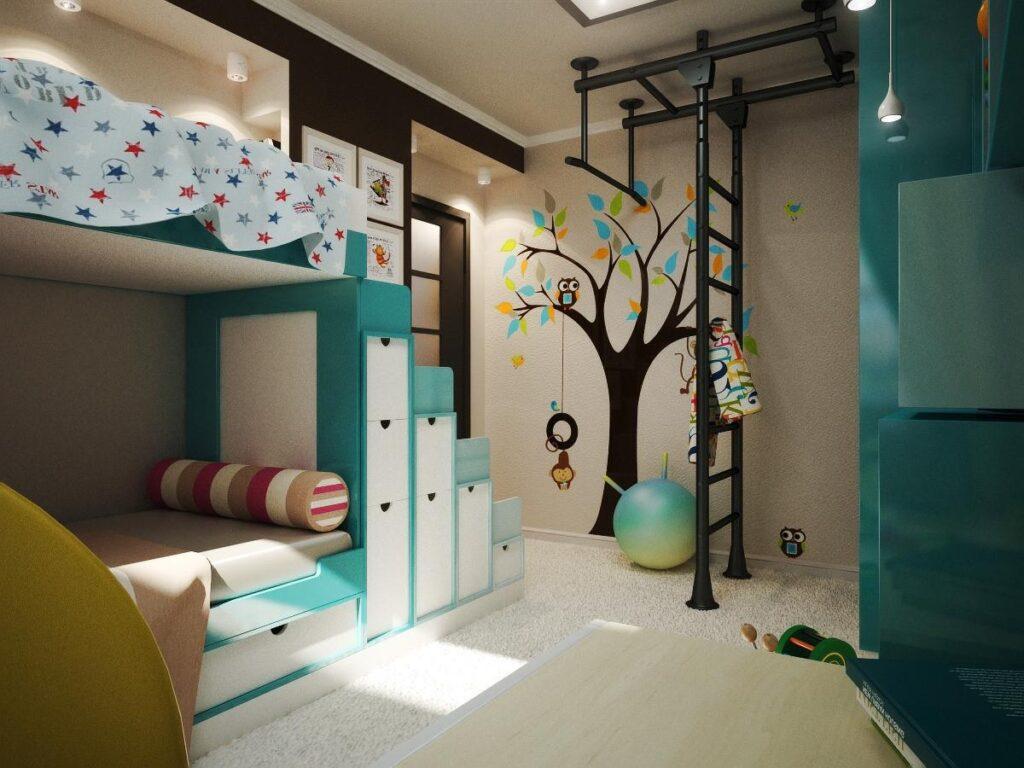 детская и гимнастический зал